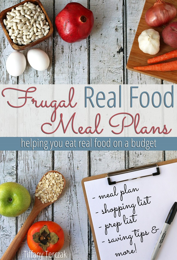 Save hundreds of dollars on your grocery budget every year! These frugal real food meal plans are family friendly and sooo tasty!